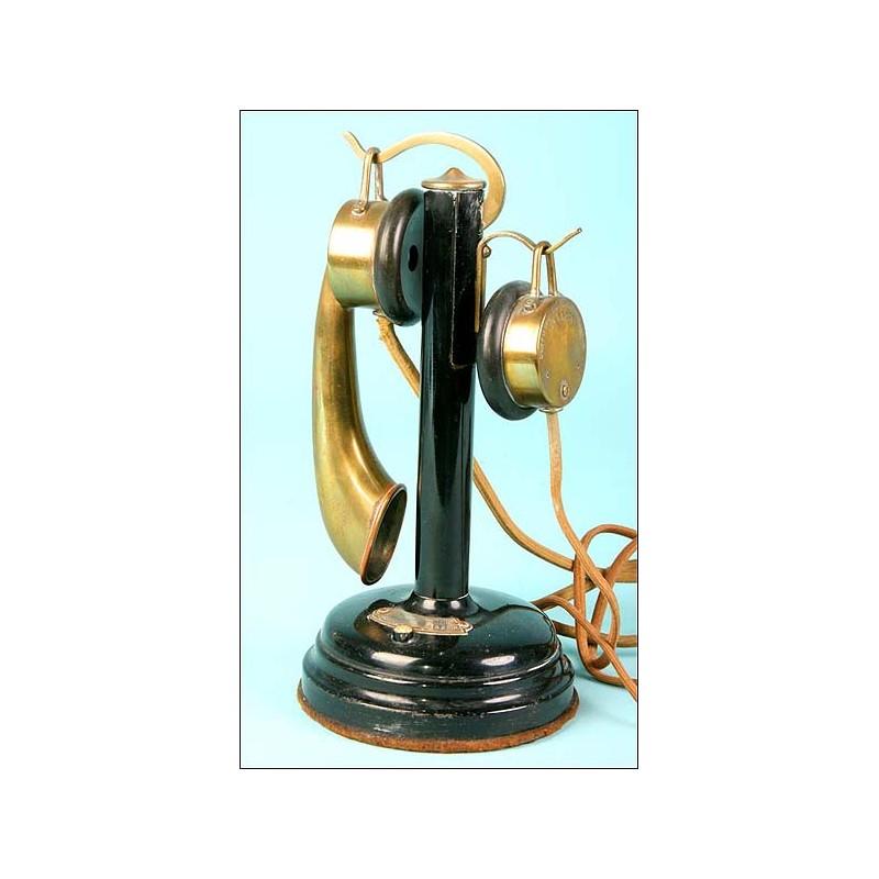 "Teléfono Thomson-Houston marcado ""Unis France"" nº 45260.C.1910"