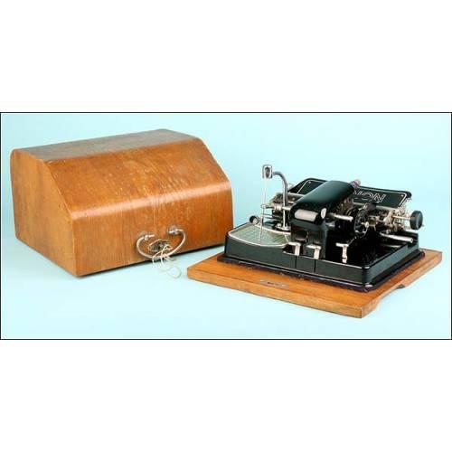 Máquina de escribir Mignon. ¡Completa incluso con la llave! 1923