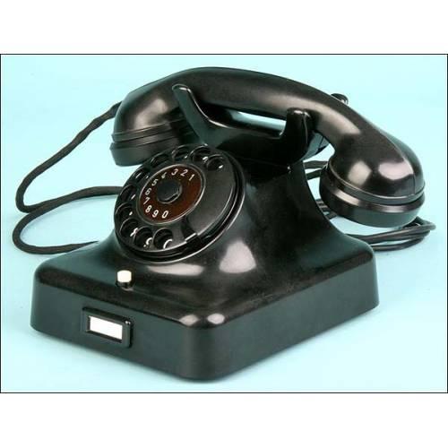 Teléfono modelo W48 - FA. Siemens 1959. FUNCIONANDO