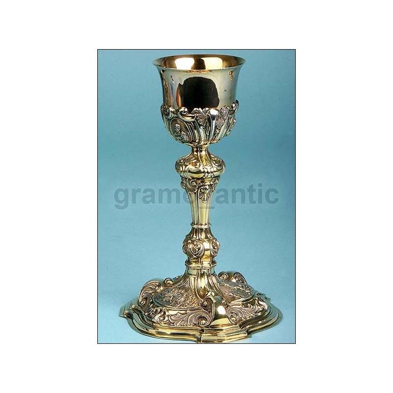 Cáliz de Obispo. Alemania. Siglo XVIII. 1720