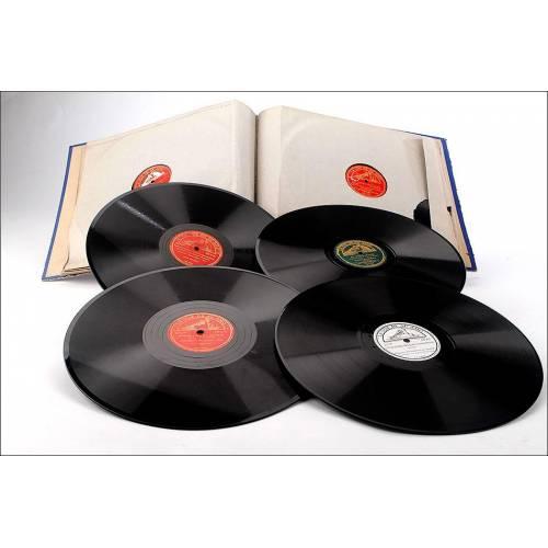 Album con 12 discos de gramófono españoles. 78 rpm. Música clásica y ópera. Album original
