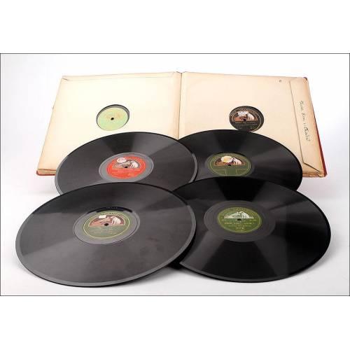 Album con 12 discos de gramófono españoles. 78 rpm. Música clásica. Album original