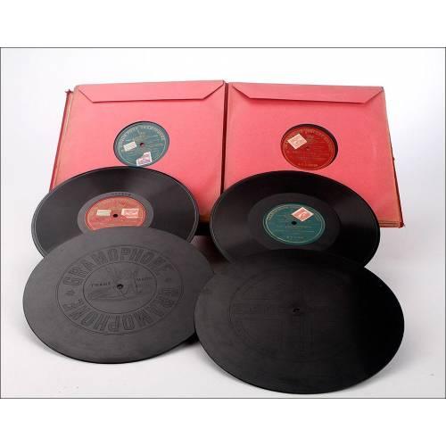 Album con 12 discos de gramófono españoles. 78 rpm. Todos ellos monofaciales. Album original