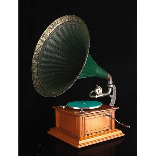 Gramófono de Trompeta Dulcephone. Inglaterra, Circa 1915