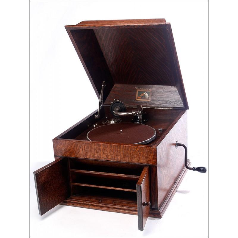 Impresionante Gramófono de Sobremesa His Master's Voice Modelo 109. Inglaterra, 1927