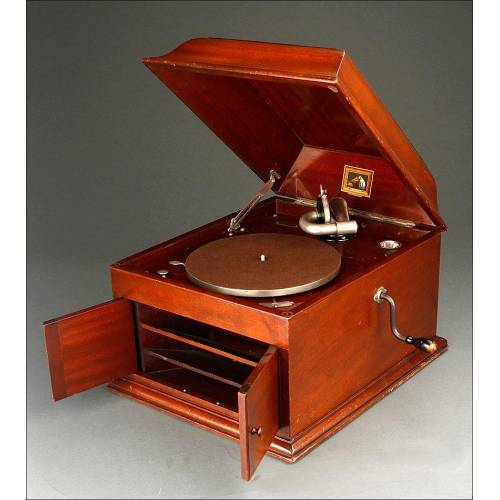 Elegante Gramófono de Sobremesa His Master's Voice Modelo 103. Inglaterra. Años 20