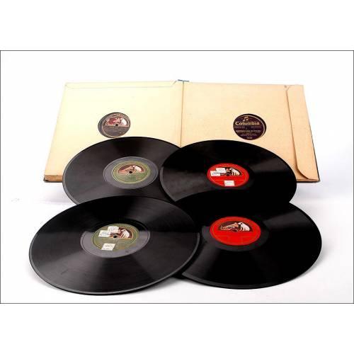 Album con 12 discos de gramófono españoles. 78 rpm. Album original. Traviata
