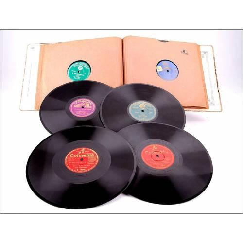 Album con 12 discos de gramófono casi todos en catalán. 78 rpm. Sardanas y canciones