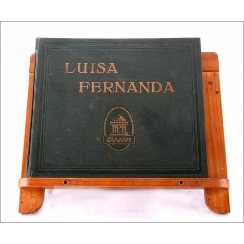Album con 4 discos de gramófono. 78 rpm. Zarzuela Luisa Fernanda.