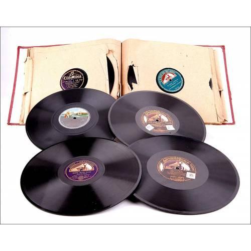 Album con 12 discos de gramófono. 78 rpm. Temática variada. Album original de época