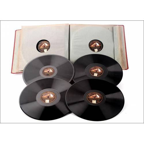 Album con 12 discos de gramófono. 78 rpm de temática variada, sobre todo clásica.