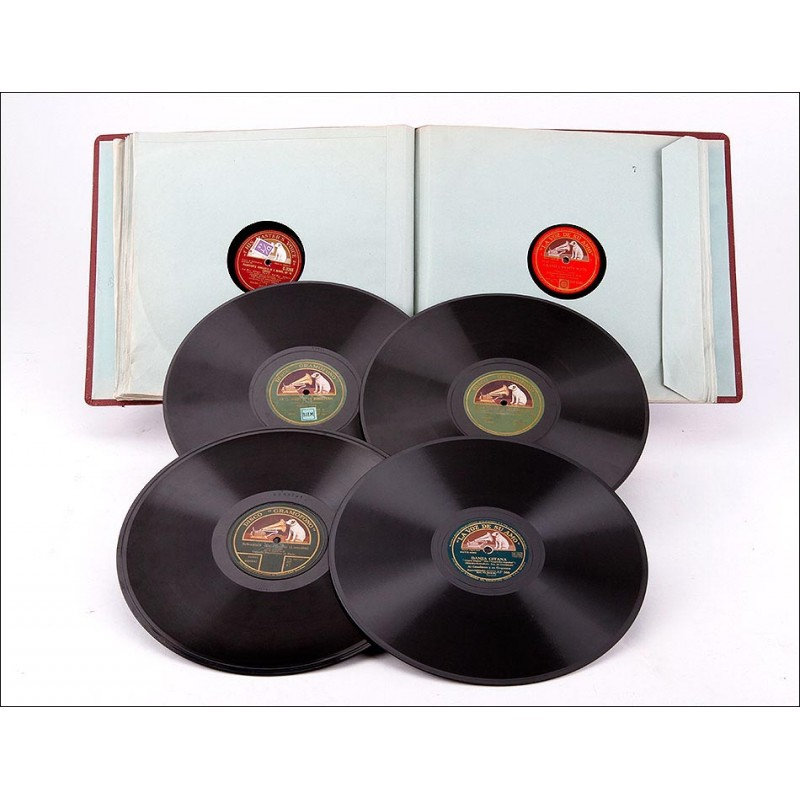 Album con 12 discos de gramófono. 78 rpm. Principalmente clásica. Album original de época