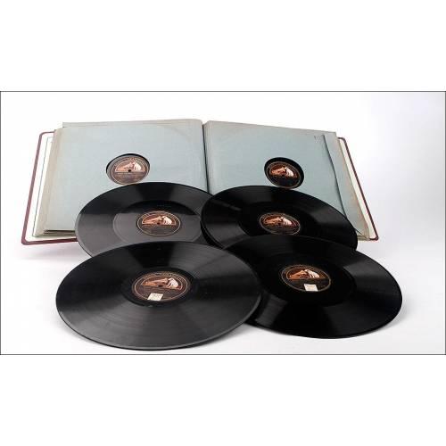 Album con 12 discos de gramófono. 78 rpm. Beethoven. Misa Solemnis, por el Orfeó Catalá