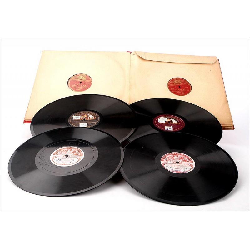 Album con 12 discos de gramófono. 78 rpm. Temática variada, principalmente ópera.