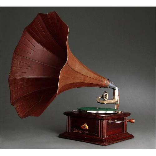 Espectacular Gramófono de Trompeta La Voz de Su Amo, 1910-15. En Muy Buen Estado y Funcionando
