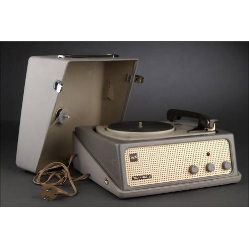 Tocadiscos Alemán de Válvulas Dual Party de los Años 60. Perfecto Funcionamiento