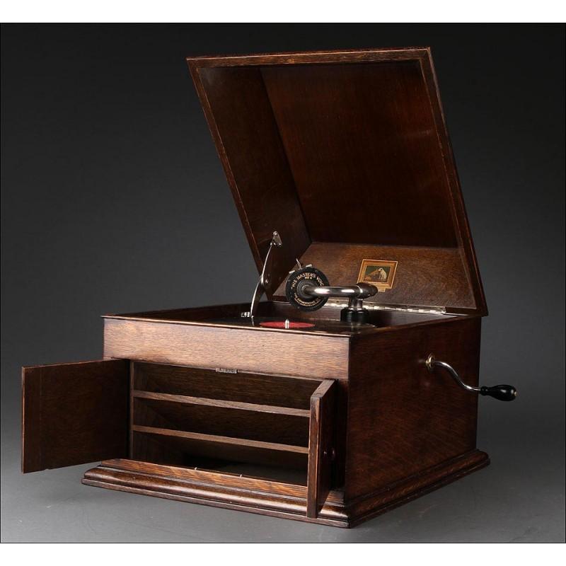 Gramófono His Master's Voice (La Voz de su Amo), Circa 1925. En Perfecto Estado. Suena de Maravilla