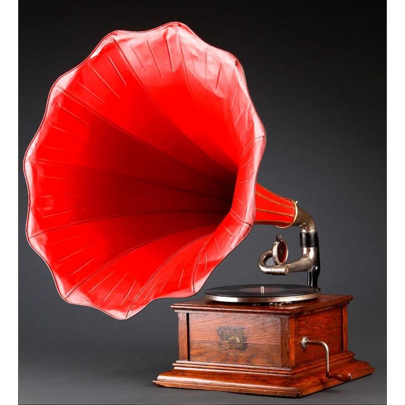Espectacular Gramófono Inglés La Voz de su Amo Fabricado en los Años 20. Funcionando a la Perfección