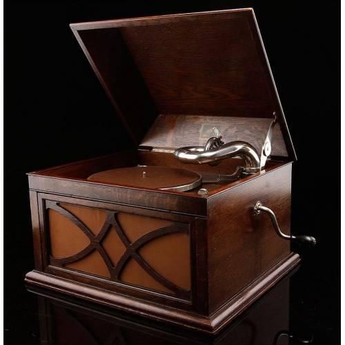 Elegante Gramófono HMV Restaurado y Funcionando. Inglaterra, Ca. 1930