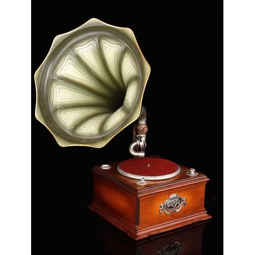 Original Tocadiscos Philips de los Años 70 en forma de Gramófono. Edición Limitada. Funciona Perfectamente