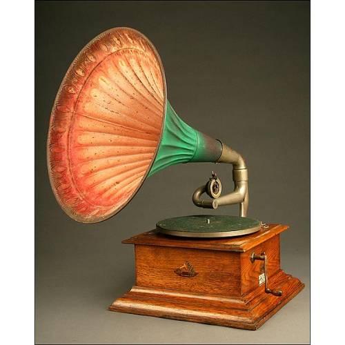 Gramófono La Voz de su Amo Intermediate Junior. Ca. 1910.Totalmente Original.