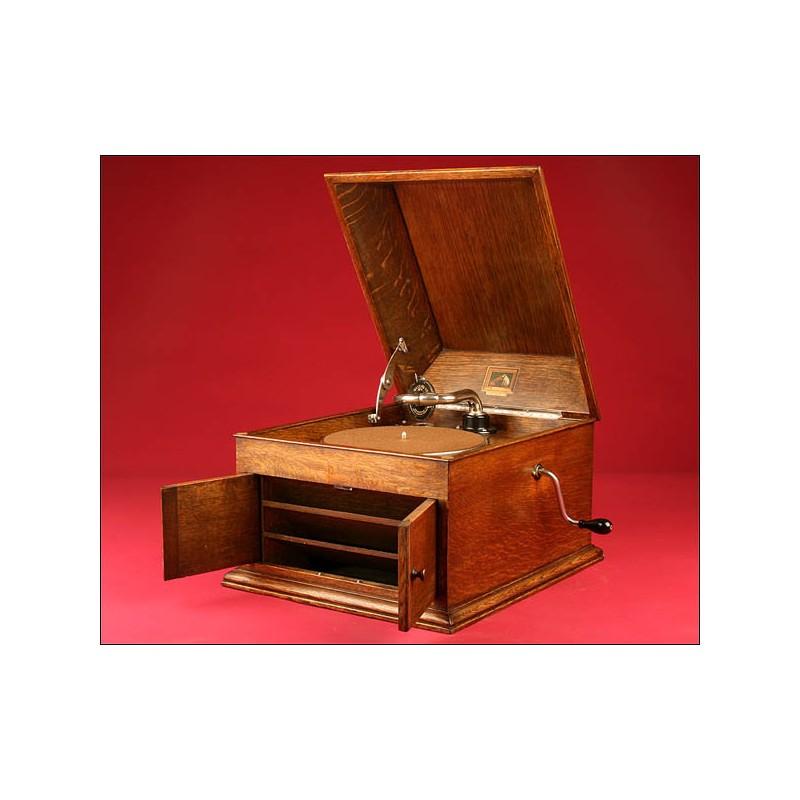 Magnífico Gramófono de Sobremesa HMV (His Master Voice) Modelo 103. 1920s.