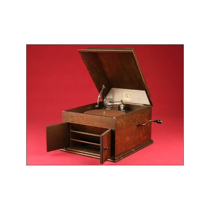 Elegante Gramófono de Sobremesa HMV (His Master Voice) Modelo 109. 1925-1929.