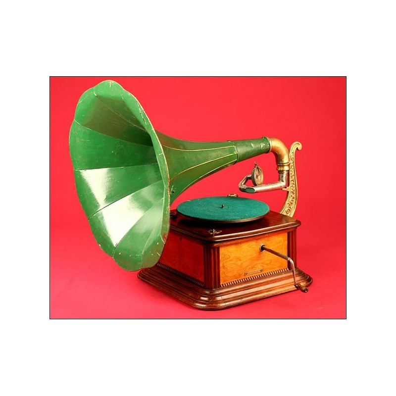 Precioso Gramófono Español Eco-phone nº 14. 1915