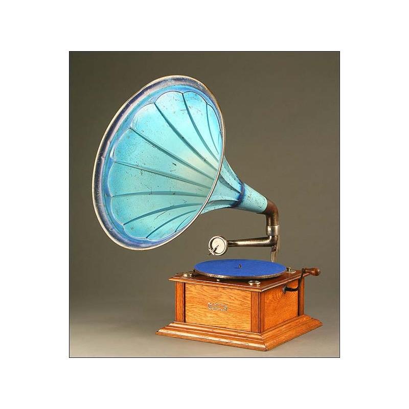 Gramófono de Trompeta Dulcetto, Suiza, Año Circa 1910-1915