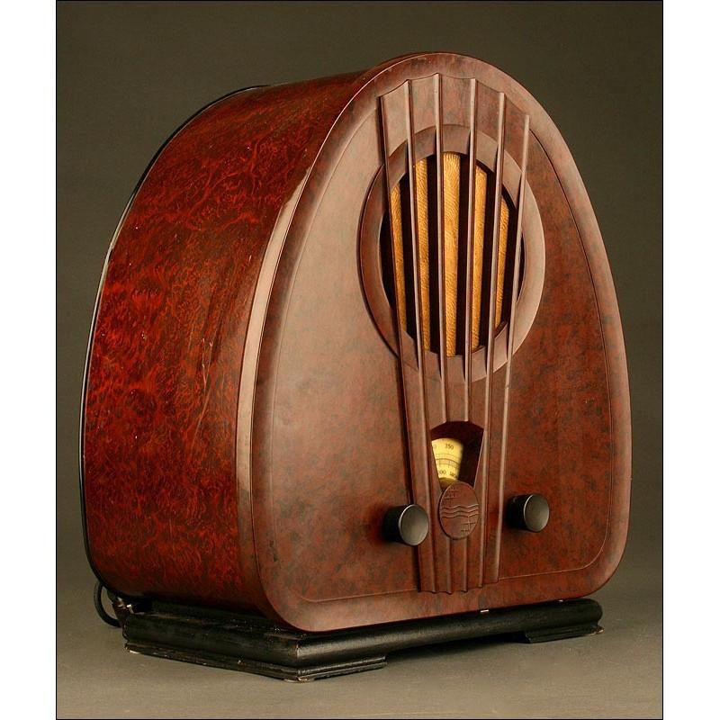 Original Radio Philips 834-A del Año 1933. Funciona Perfectamente. 220 V.