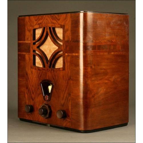 Preciosa Radio Antigua de Válvulas Philips 736A de 1934. Funcionando