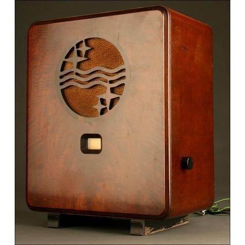 Elegante Radio Válvulas Philips 730A. Año 1932, En Funcionamiento