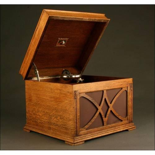 Exclusivo Gramófono de Madera La Voz de Su Amo. Años 20-30. Original en Perfecto Funcionamiento