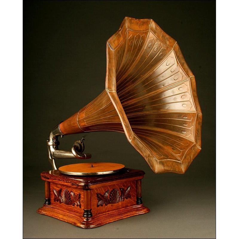 Antiguo Gramófono de Principios del Siglo XX, Circa 1.910. Gramophone & Typewriter Company