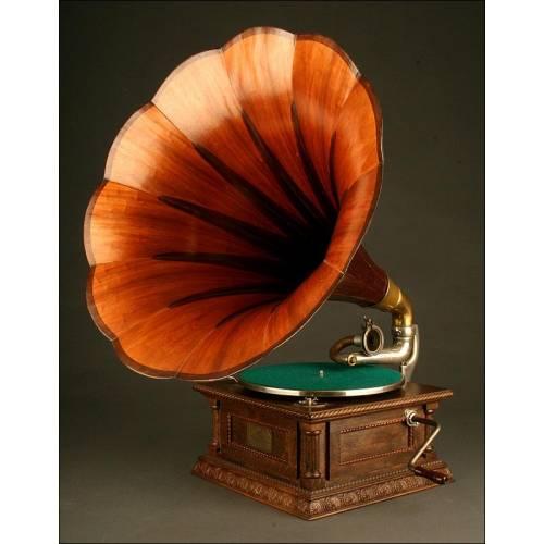 Magnífico Gramófono Original La Voz de Su Amo. Año 1915. Excelente Calidad de Sonido.