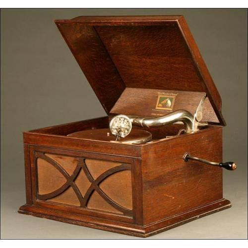 Elegante Gramófono La Voz de Su Amo, modelo104. Año 1924