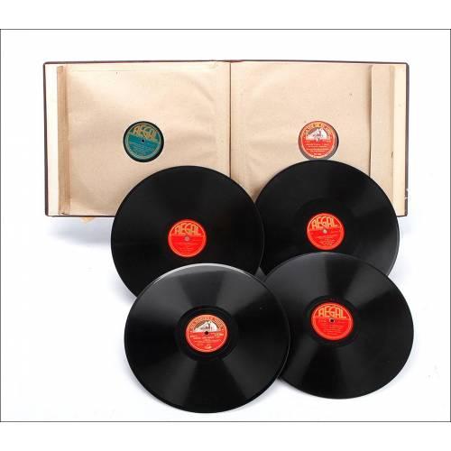 Álbum con 12 Discos de Gramófono. Música Clásica. Álbum Original. Tchaikowsky