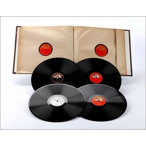 Álbum con 12 Discos de Gramófono. Música Clásica. Álbum Original