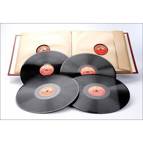 Álbum con 12 Discos de Gramófono. Ópera y Música Clásica. Álbum Original. Beethoven