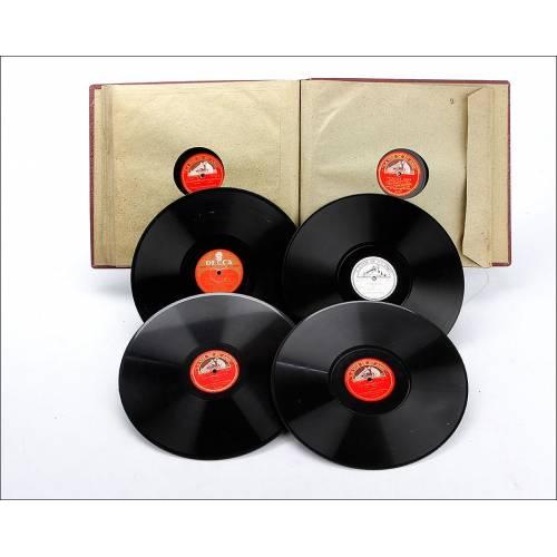 Álbum con 12 Discos de Gramófono. Ópera y Música Clásica. Álbum Original. Bizet