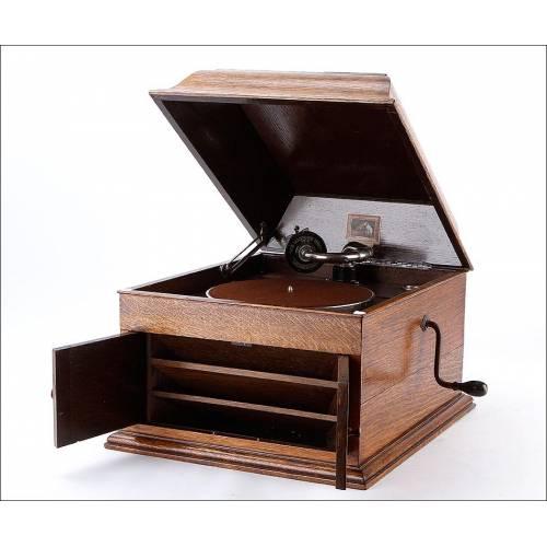 Gramófono Antiguo de Sobremesa His Master's Voice. Modelo 103. Gran Bretaña, 1925