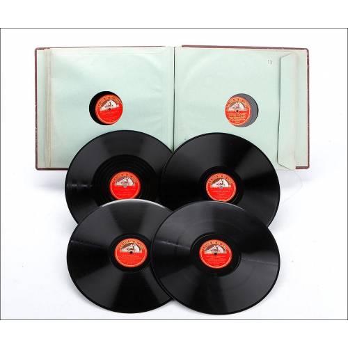 Álbum con 12 Discos de Gramófono. Ópera y Música Clásica. Álbum Original. Mozart