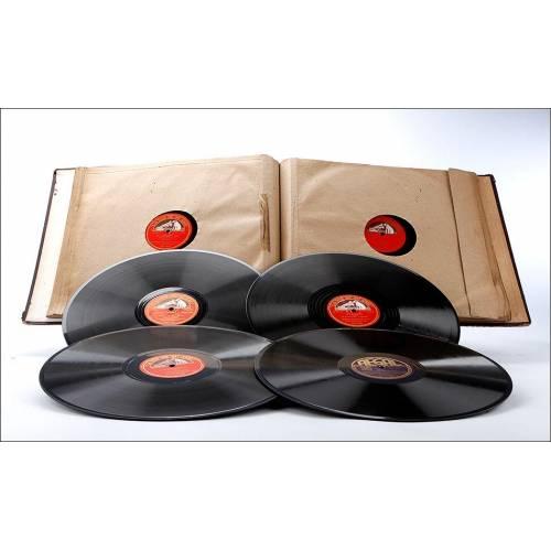 Álbum con 12 Discos de Gramófono. Música Clásica. Álbum Original. Albéniz