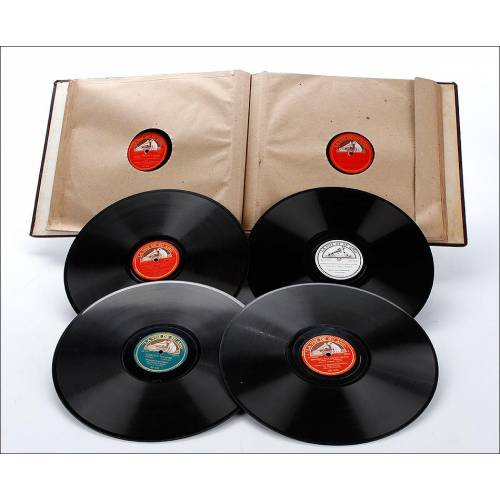 Álbum con 12 Discos de Gramófono. Ópera y Música Clásica. Álbum Original. Schubert