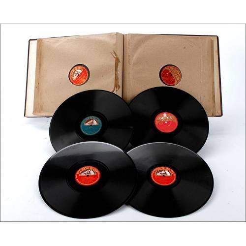 Álbum con 12 Discos de Gramófono. Ópera y Música Clásica. Álbum Original