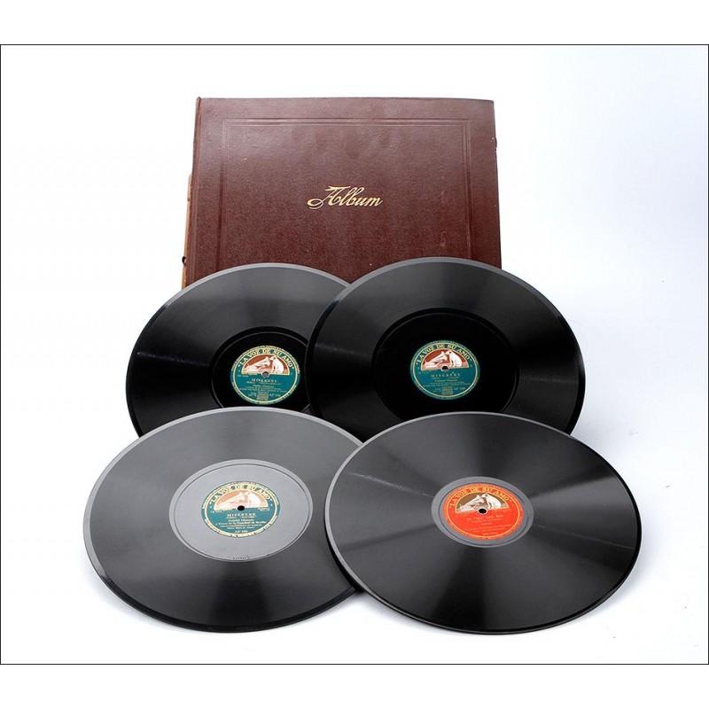 Álbum con 12 Discos de Gramófono. Música Clásica y Ópera. Álbum Original.