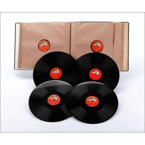 """Álbum con 13 Discos de Gramófono. Giacomo Puccini. Ópera """"La Boheme"""" Completa. Álbum Original."""