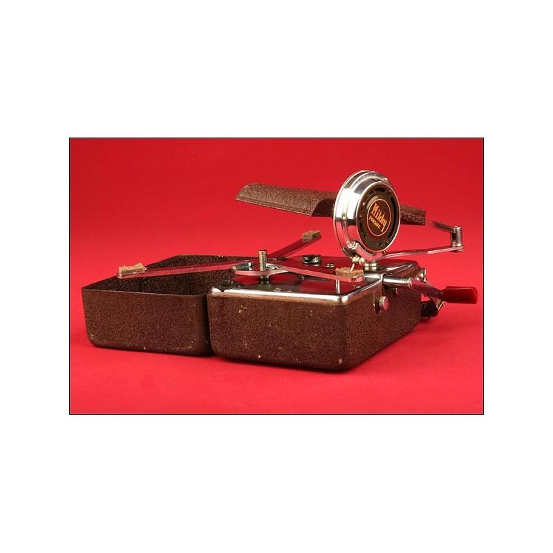 Gramófono de Bolsillo Mikki Phone. Japón, Años 30.
