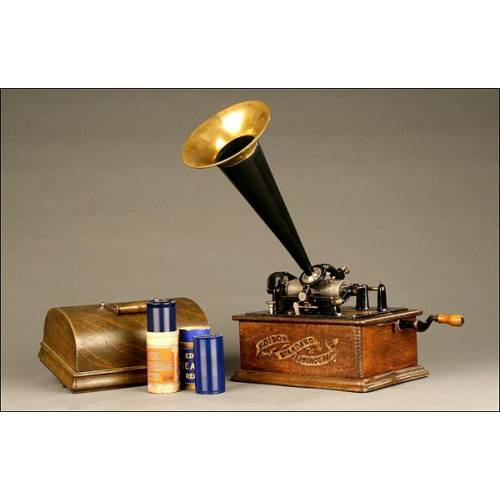 Precioso Fonografo Edison Standard. Ca. 1900