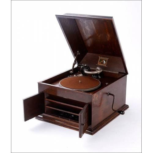 Antiguo Gramófono de Sobremesa La Voz De Su Amo Modelo 109. Inglaterra, 1927